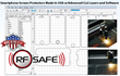 Laser cutting software for rf safe screen protectors