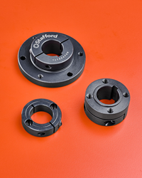 Off-the-shelf products for face mounting components on a shaft, depending upon specific user design requirements.