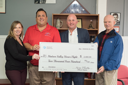 Presenting the Satin Fine Foods donation to Hudson Valley Honor Flight
