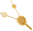 Day & Night Key necklace in 18K yellow gold with mother of pearl