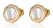 Day and Night earrings in 18K yellow gold with mother of pearl