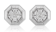 Octanight Earrings in 18K white gold with diamonds