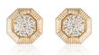 Octanight Earrings in 18K yellow gold with diamonds