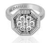 Octanight Ring in 18K white gold with diamonds