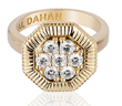 Octanight Ring in 18K yellow gold with diamonds