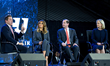 TV host Eric Bolling, FLOTUS Melania Trump, Sec. of Health & Human Services Alex Azar, and Sec. of Homeland Security Kirstjen Nielsen speak at a town hall on the opioid crisis at Liberty University.