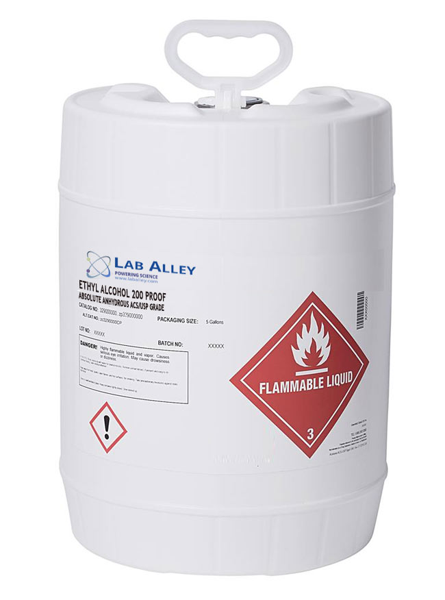 Lab Alley Adds Full Line of Food Grade Pure Ethanol to its