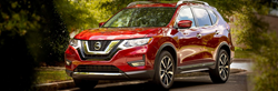 2019 Nissan Rogue parked showing front and side profile