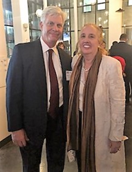 Greenberg Traurig's Ed Wallace with Manhattan Borough President Gale Brewer