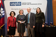 Little Sparrows Technologies co-founders Donna Brezinski, MD and Gary Gilbert, MD with Karin Ferriter, Deputy Chief Policy Officer, Office of Policy and International Affairs, USPTO.