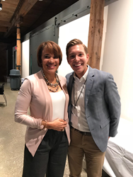 Photo of City of Flint Mayor Karen Weaver, with Utilis North American Sales Manager, Alex Puryear