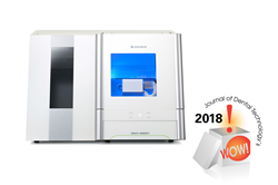 The DGSHAPE DWX-52DCi dental mill -- winner of a 2018 JDT WOW! Award.
