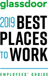 Best Places to Work in 2019, A Glassdoor Employees' Choice Award Winner