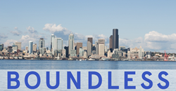 Boundless Logo with Cityscape Background