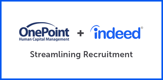OnePoint HCM Launches Indeed Job Board Integration to