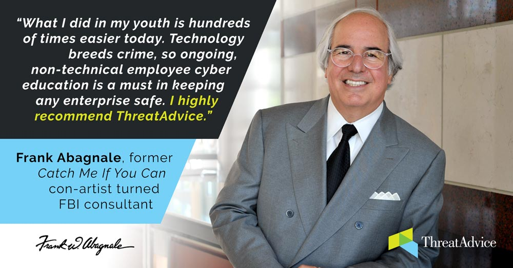 """ThreatAdvice Names Frank Abagnale of """"Catch Me If You Can"""" Fame as ..."""