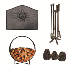 A gift of fireplace accessories is always most appreciated during the winter season.