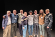 After the evening's performance, several audience members—all participants in 1in6's Bristlecone Project—gathered on stage. Pictured left to right: Peter Pollard, Dr. David Lisak, Anthony Edwards, Mar