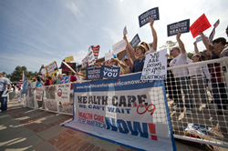Photo: Americans demand healthcare reform.