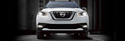grille of white nissan kicks