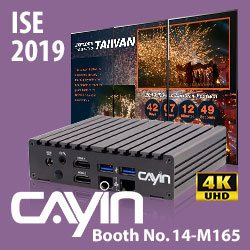 CAYIN Technology participates in this year's Integrated System Europe with their versatile yet affordable 4K UHD digital signage player, deploying for diversified application markets.