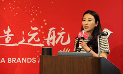 Jennifer Yang, Founder of Co.group,presented on the Global China Brands Annual Forum