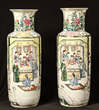Lot #905, a 19th Century Chinese Porcelain Vase Pair, Estimated at $4,000-8,000.