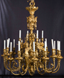 Lot #1222, a 20th Century Light Gilt Bronze Period Chandelier, Estimated at $5,000-10,000.