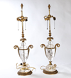 Lot #1651, a Pair of Rock Crystal Table Lamps, Estimated at $3,000-5,000.