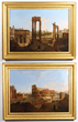 "Lot #1901, ""A View Of The Forum Romanum"" and ""The Coliseum"" by Jean Victor Louis Faure, Estimated at $80,000-140,000."