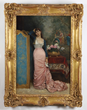 "Lot #1906, ""Reverie"" by Auguste Toulmouche, Estimated at $9,000-14,000."