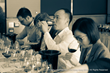 Students sampling Italian wines during the numerous tasting sessions of the VIA Italian Wine Ambassador certification course.