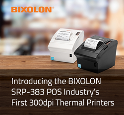 Introducing the BIXOLON SRP-383 POS Industry's First 300dpi Thermal Printers
