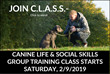 "Park Cities Pet Sitter Announces New Upcoming 5-Week Group Dog Training ""C.L.A.S.S."" Beginning Saturday, February 9th, 2019."