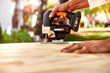 WORX 20V Jigsaw makes cutting wood and other materials easy by simply changing blades.