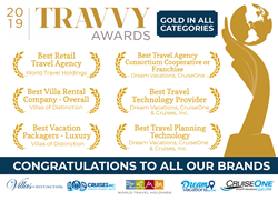 Six Gold 2019 Travvy Awards