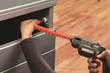 WORX Flexible Shaft bends 180º to reach fasteners in difficult locations.