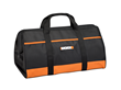 WORX Large Zippered Tool Tote with Interior and Exterior Pockets is made of heavy-duty nylon with a zippered closure.