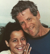Lily Nathanson with her father