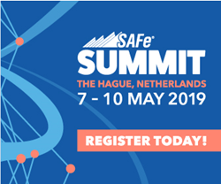 Registration is open for the 2019 Global SAFe Summit at europe.safesummit.com