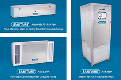 Sanitaire UV-C Room Air Sanitizers for Occupied Spaces