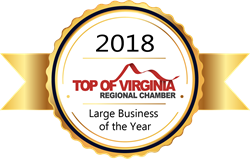 Top of Virginia Regional Chamber Large Business Award