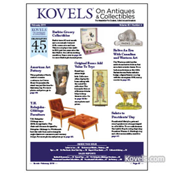 kovels, antiques, collectibles, barbie doll, robsjohn-gibbings, canadian advertising, presidential, art pottery