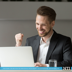 Man excited about the new NTI website.