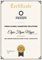 Inbound Marketing Agency, Prism Global Marketing Solutions, Named the 2019 Best Inbound Marketing Agency by Global Business Insight