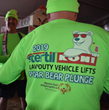 Stertil-Koni specially designed fluorescent green long-sleeve shirts with a custom logo