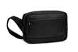 Sutter Sling Pouch — black ballistic nylon with full-grain black leather