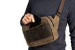 Sutter Sling Pouch — plushly-lined front pocket is easily accessible