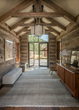 Using reclaimed materials as in these hewn trusses, JLF Architects partners with Big-D Signature in a design-build philosophy that produces timeless, custom homes (photo by Audrey Hall).