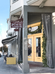The entrance of Plow, located in Potrero Hills neighborhood of SF